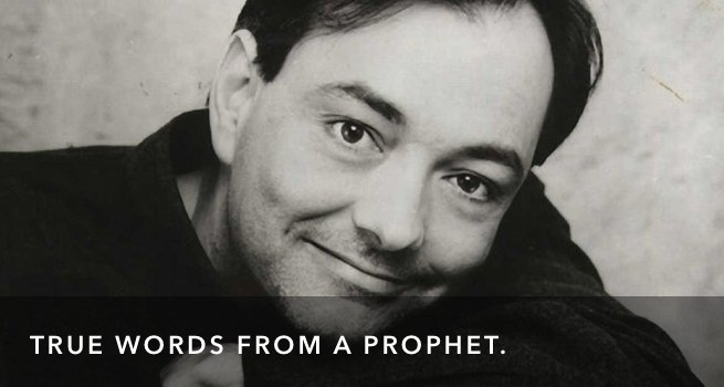 Rich Mullins on what Christianity is Not.