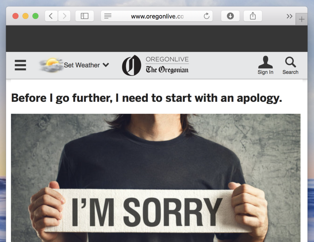 A Pastor's Apology