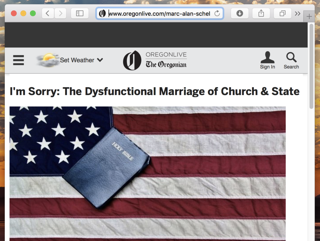 I'm Sorry: The Dysfunctional Marriage of Church & State