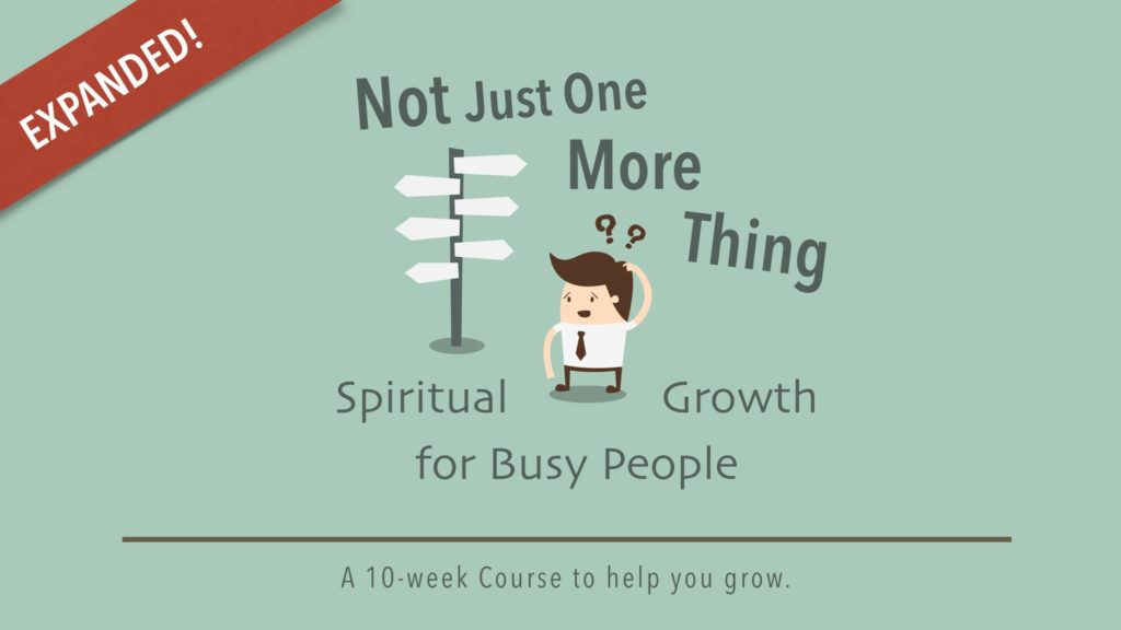 Is it possible to grow spiritually in the middle of a busy life?